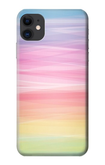 Printed Colorful Rainbow Pastel iPhone 11 Case