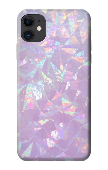 Printed Iridescent Holographic Photo Printed iPhone 11 Case