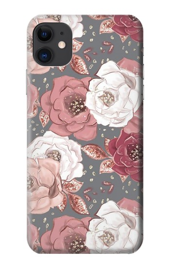 Printed Rose Floral Pattern iPhone 11 Case