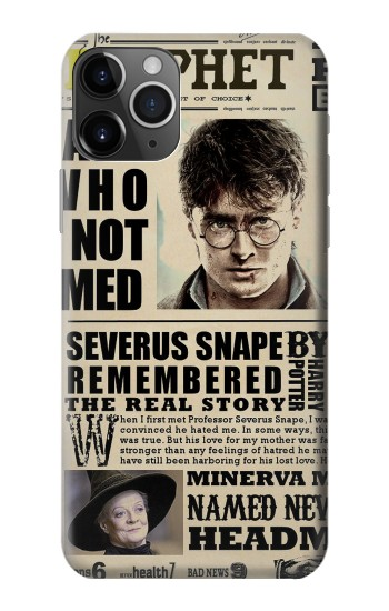 Printed Harry Potter Daily Prophet iPhone 11 Pro Max Case