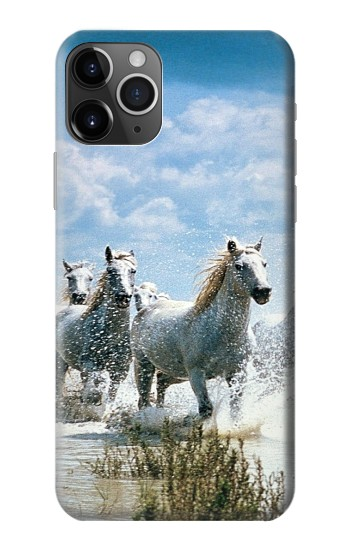 Printed White Horse 2 iPhone 11 Pro Max Case
