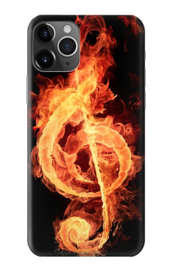 Printed Music Note Burn iPhone 11 Pro Max Case