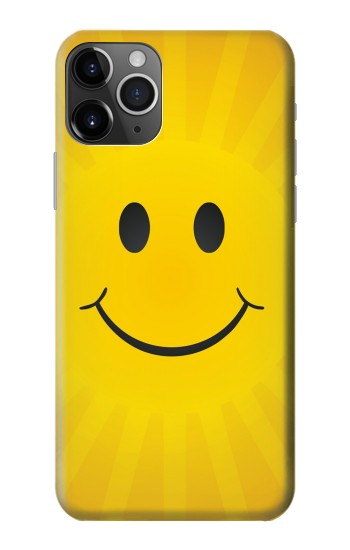 Printed Yellow Sun Smile iPhone 11 Pro Max Case