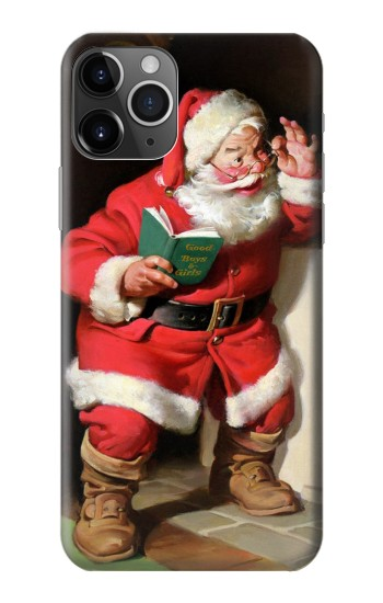 Printed Santa Claus Merry Xmas iPhone 11 Pro Max Case