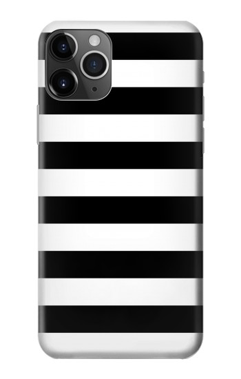 Printed Black and White Striped iPhone 11 Pro Max Case