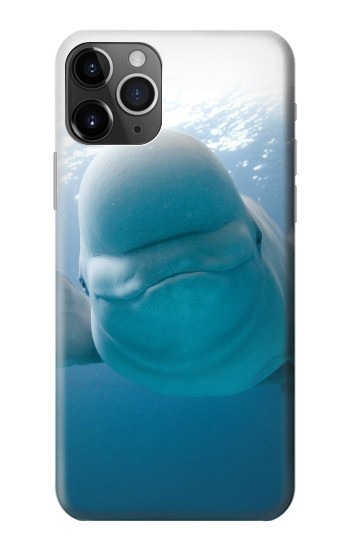 Printed Beluga Whale Smile Whale iPhone 11 Pro Max Case