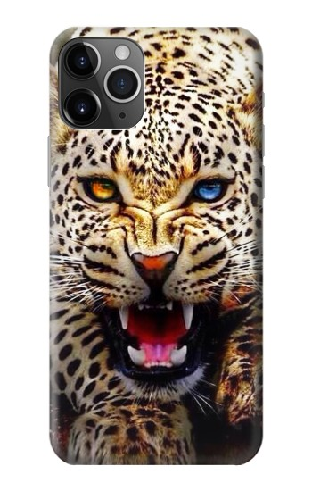 Printed Blue Eyed Leopard iPhone 11 Pro Max Case