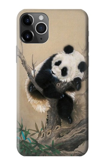 Printed Panda Fluffy Art Painting iPhone 11 Pro Max Case