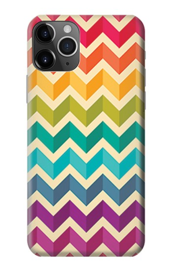 Printed Rainbow Colorful Shavron Zig Zag Pattern iPhone 11 Pro Max Case