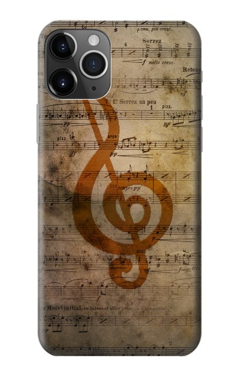 Printed Sheet Music Notes iPhone 11 Pro Max Case