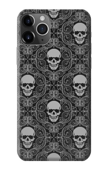 Printed Skull Vintage Monochrome Pattern iPhone 11 Pro Max Case