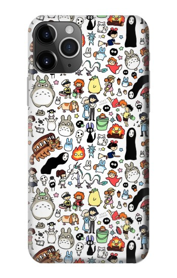 Printed Ghibli Characters iPhone 11 Pro Max Case