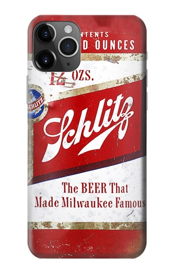 Printed Vintage Schlitz Beer Can iPhone 11 Pro Max Case