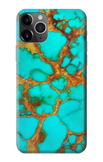 Printed Aqua Copper Turquoise Gems iPhone 11 Pro Max Case