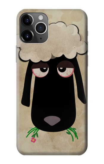 Printed Cute Cartoon Unsleep Black Sheep iPhone 11 Pro Max Case