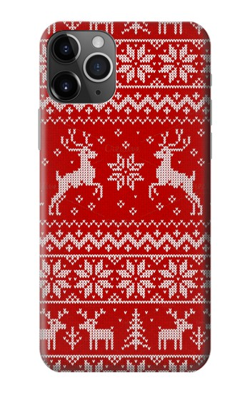 Printed Christmas Reindeer Knitted Pattern iPhone 11 Pro Max Case