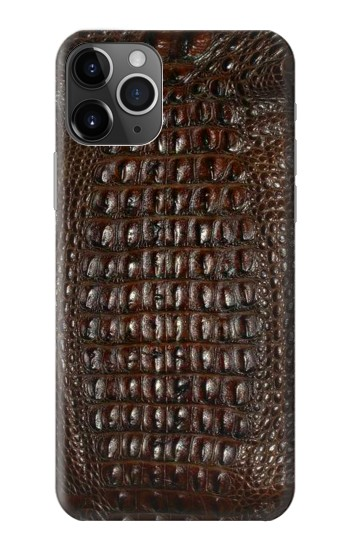 Printed Brown Skin Alligator Graphic Printed iPhone 11 Pro Max Case