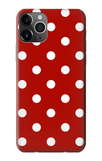 Printed Red Polka Dots iPhone 11 Pro Max Case