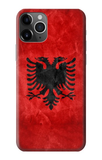 Printed Albania Red Flag iPhone 11 Pro Max Case