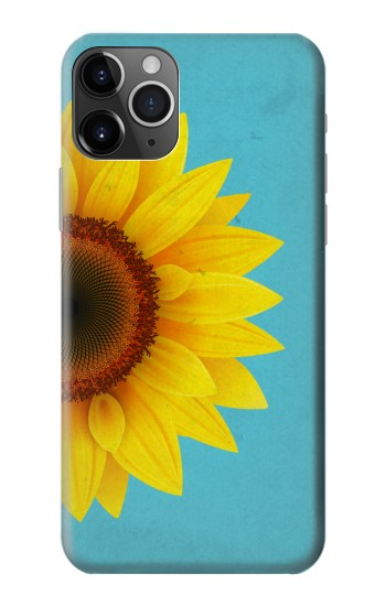 Printed Vintage Sunflower Blue iPhone 11 Pro Max Case