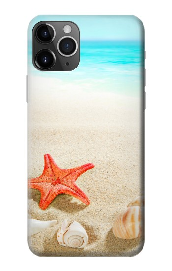 Printed Sea Shells Starfish Beach iPhone 11 Pro Max Case