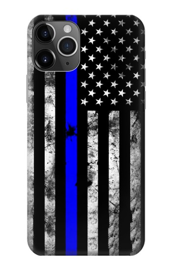 Printed Thin Blue Line USA iPhone 11 Pro Max Case