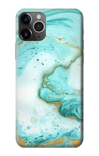 Printed Green Marble Graphic Print iPhone 11 Pro Max Case