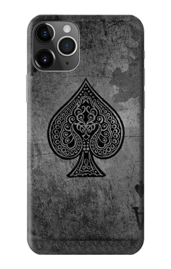 Printed Black Ace Spade iPhone 11 Pro Max Case