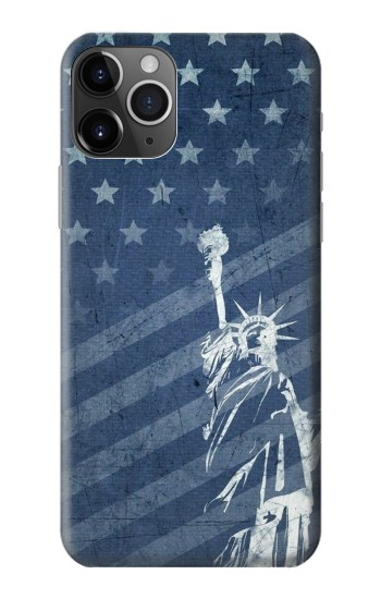 Printed US Flag Liberty Statue iPhone 11 Pro Max Case
