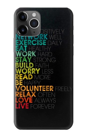 Printed Think Positive Words Quotes iPhone 11 Pro Max Case