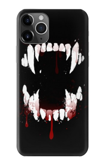 Printed Vampire Teeth Bloodstain iPhone 11 Pro Max Case