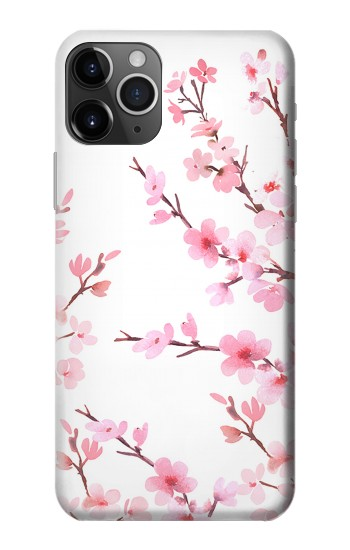Printed Pink Cherry Blossom Spring Flower iPhone 11 Pro Max Case