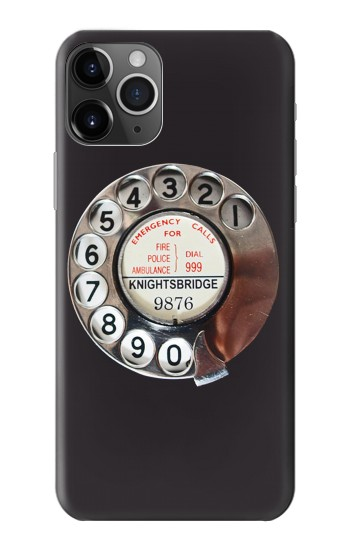Printed Retro Rotary Phone Dial On iPhone 11 Pro Case
