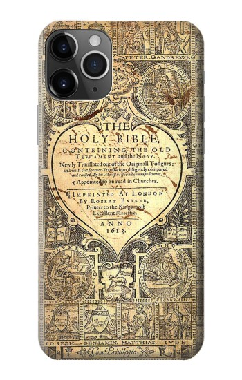 Printed Bible Page iPhone 11 Pro Case