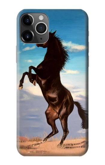 Printed Wild Black Horse iPhone 11 Pro Case