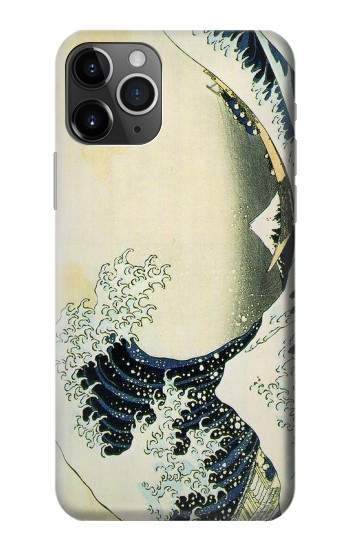 Printed Katsushika Hokusai The Great Wave of Kanagawa iPhone 11 Pro Case