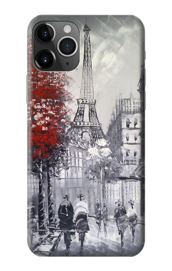 Printed Eiffel Painting of Paris iPhone 11 Pro Case