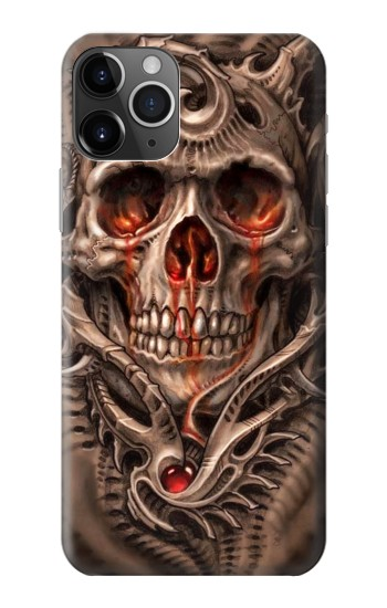Printed Skull Blood Tattoo iPhone 11 Pro Case