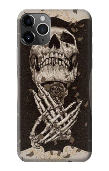 Printed Skull Rose iPhone 11 Pro Case
