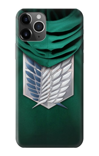 Printed Attack on Titan Scouting Legion Rivaille Green Cloak iPhone 11 Pro Case