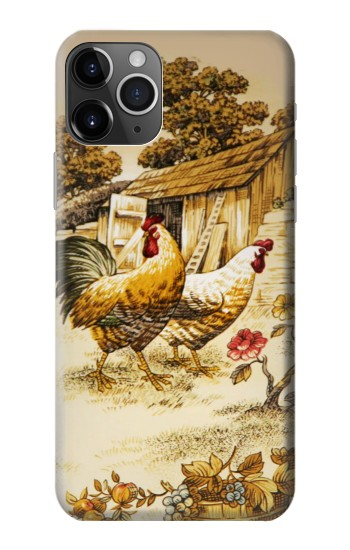 Printed French Country Chicken iPhone 11 Pro Case