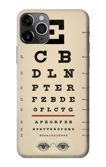 Printed Eye Exam Chart Decorative Decoupage Poster iPhone 11 Pro Case