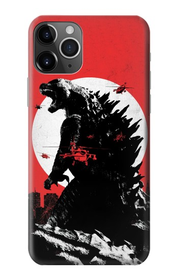 Printed Godzilla Japan Flag iPhone 11 Pro Case