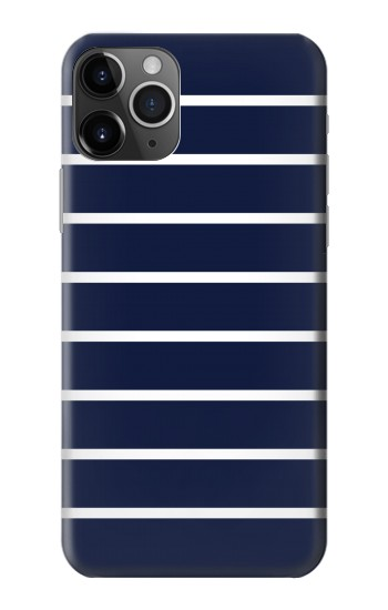 Printed Navy White Striped iPhone 11 Pro Case