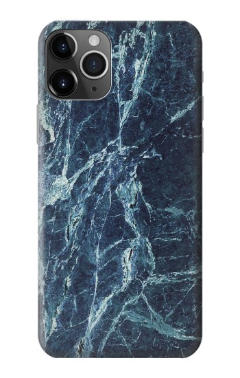 Printed Light Blue Marble Stone Texture Printed iPhone 11 Pro Case