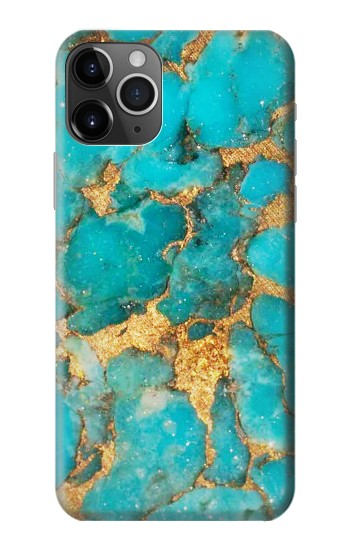 Printed Aqua Turquoise Stone iPhone 11 Pro Case