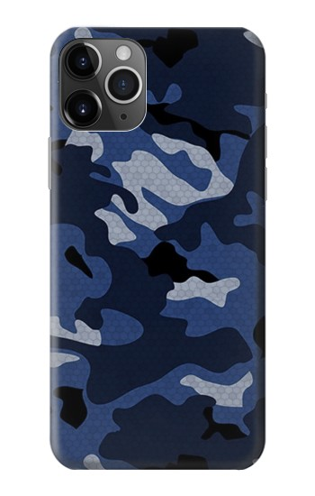 Printed Navy Blue Camouflage iPhone 11 Pro Case