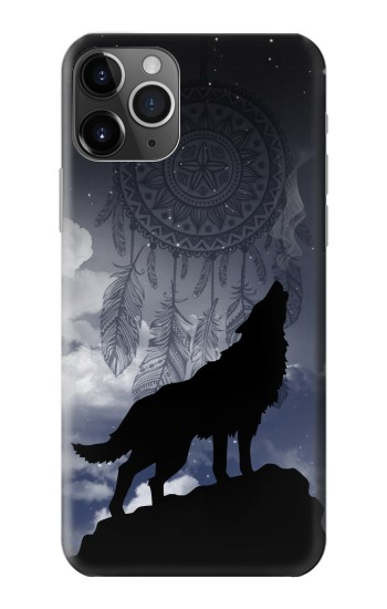 Printed Dream Catcher Wolf Howling iPhone 11 Pro Case