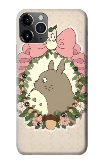 Printed My Neighbor Totoro Wreath iPhone 11 Pro Case