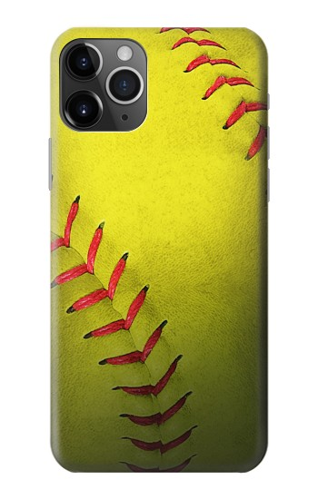 Printed Yellow Softball Ball iPhone 11 Pro Case